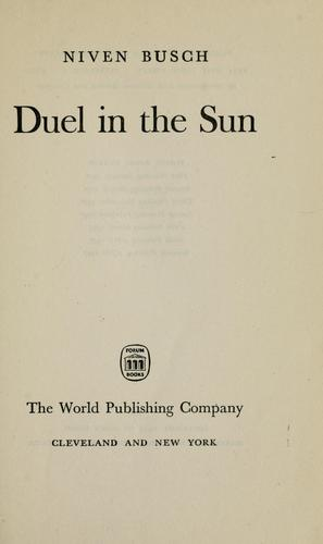 Duel in the sun by Niven Busch