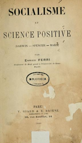 Socialisme et science positive by Ferri, Enrico