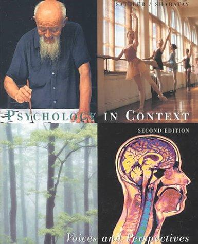 Psychology in Context by David N. Sattler, Virginia Shabatay