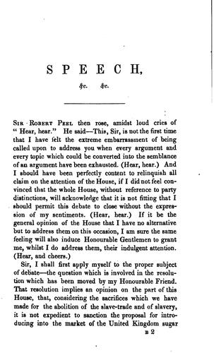 Speech ... in the House of commons, on ... May 18, 1841, on the ministerial financial budget by Robert Peel