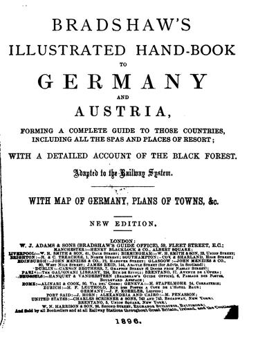 Bradshaw's illustrated hand-book to Germany by George Bradshaw