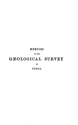 memoirs of the geological survey of india by thomas oldham