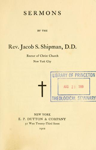 Sermons by Jacob S. Shipman